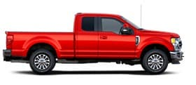 La Ford Super Duty Lariat 2020 en Rapid Red