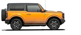 Una Ford Bronco Outer Banks 2021 en Cyber Orange