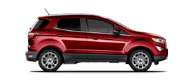 2020 Ford EcoSport shown in Ruby Red