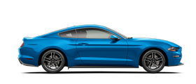 2020 Ford Mustang in Velocity Blue