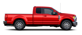 2020 Ford Super Duty Lariat in Rapid Red